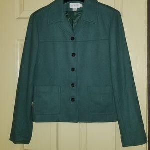Green J Crew Jacket 65% Wool